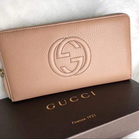 a99d5c26f977d9 Gucci Bags   Soho Disco Zip Around Wallet Beige Tan New   Poshmark